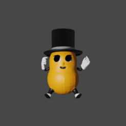 Baby_Peanut.png Download free STL file Baby Nut (Baby Mr. Peanut) • 3D printing model, valertale