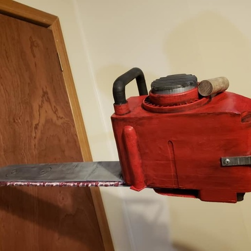 73065508_2411800995740502_400911506041995264_n.jpg Download free STL file Ash Williams Chainsaw Hand (Evil Dead II & Army Of Darkness) • Object to 3D print, valertale
