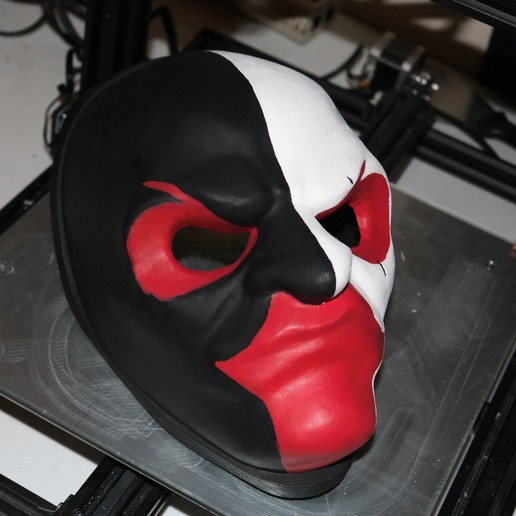 IMG_0522.JPG Download free STL file Payday 2 Scarface's Mask • Model to 3D print, valertale