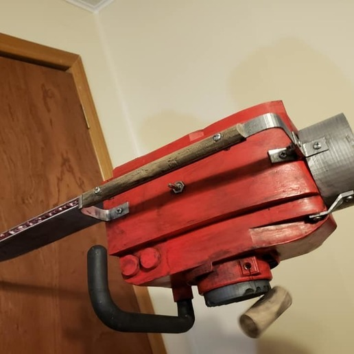 75328722_2411801022407166_84215864768856064_n.jpg Download free STL file Ash Williams Chainsaw Hand (Evil Dead II & Army Of Darkness) • Object to 3D print, valertale