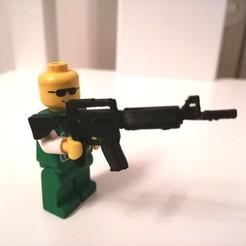 Télécharger fichier imprimante 3D AR-15 - fusil d'assaut pour jeu de construction type LEGO, BRAKADOS