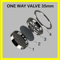VALVE 35mm.jpg Download STL file VMO ONE WAY VALVE FOR FABRIC MASK • 3D printing object, victorottati