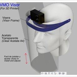 Descargar archivo 3D gratis Visor VMO - PROTECTOR IMPRESO EN 3D - Coronavirus COVID-19, victorottati