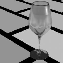rendu verre.png Télécharger fichier STL gratuit Verre a pied • Design à imprimer en 3D, Zhaatex