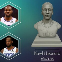 01.jpg Download OBJ file Kawhi Leonard 3D portrait sculpture ready to 3D print • Model to 3D print, selfix