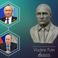01.jpg Télécharger fichier OBJ Sculpture 3D de Vladimir Poutine modèle 3D imprimable • Plan pour impression 3D, selfix