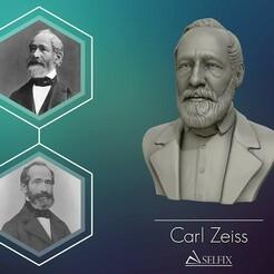 01.jpg Download OBJ file Carl Zeiss Bust 3D printable 3D print model • 3D print object, selfix