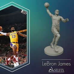 01.jpg Download OBJ file LeBron James 3D Dunk Model for 3D printing • 3D printing object, selfix