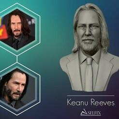 01.jpg Télécharger fichier OBJ Keanu Reeves sculpture de portraits en 3D • Modèle pour impression 3D, selfix
