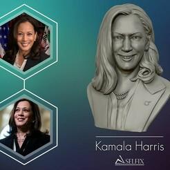 01.jpg Download OBJ file Kamala Harris 3D sculpture model • 3D print object, selfix