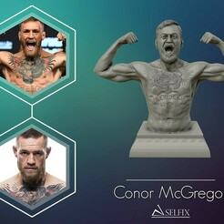 01.jpg Download OBJ file Conor McGregor 3D Sculpture Ready to 3D print • 3D printing object, selfix