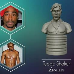 01.jpg Télécharger fichier OBJ Tupac Shakur 3d portrait sculpture • Objet imprimable en 3D, selfix