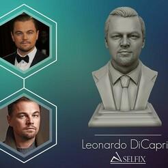 01.jpg Télécharger fichier OBJ Modèle de sculpture 3D de Leonardo DiCaprio prêt à être imprimé en 3D • Objet pour imprimante 3D, selfix