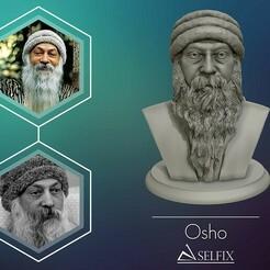 01.jpg Télécharger fichier OBJ Rajneesh OSHO sculpture imprimable en 3D • Objet pour impression 3D, selfix