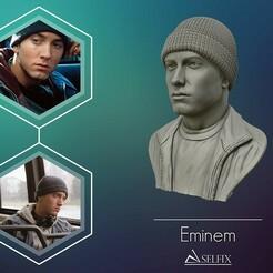01.jpg Download OBJ file Eminem 3D portrait sculpture 3D print model • 3D printable model, selfix