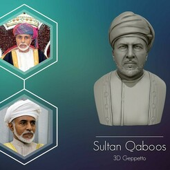 1-01.jpg Download OBJ file Sultan Qaboos 3D Model ready to 3D print  • 3D printing template, selfix