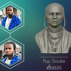 01.jpg Télécharger fichier OBJ Modèle POP SMOKE 3D de sculpture de portrait • Objet à imprimer en 3D, selfix