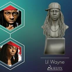 01.jpg Télécharger fichier OBJ Lil Wayne modèle 3D imprimable • Plan imprimable en 3D, selfix