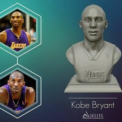 01.jpg Download OBJ file 3D Sculpture of Kobe Bryant 3D print model • 3D printing object, selfix
