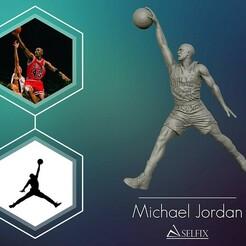 01.jpg Télécharger fichier OBJ Michael Jordan Dunk Sculpture modèle d'impression 3D • Modèle pour imprimante 3D, selfix