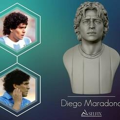 01.jpg Télécharger fichier OBJ Diego Armando Maradona sculpture 3D • Plan à imprimer en 3D, selfix