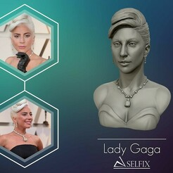 01.jpg Download OBJ file Lady Gaga sculpture Ready to Print 3D print model • 3D print object, selfix