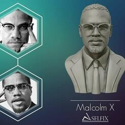 01.jpg Télécharger fichier OBJ Portrait sculpté de Malcolm X prêt à être imprimé en 3D • Design pour impression 3D, selfix
