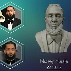 01.jpg Download OBJ file Nipsey Hussle 3D Bust Sculpture • 3D printable design, selfix
