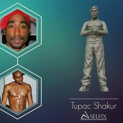 01.jpg Télécharger fichier OBJ Tupac Shakur 3d sculpture • Plan pour imprimante 3D, selfix
