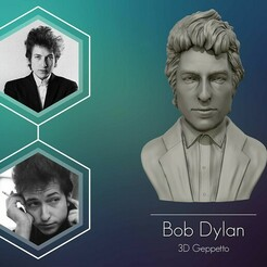 1.jpg Download OBJ file Bob Dylan 3D sculpture Ready to 3D print 3D print model • 3D printer design, selfix