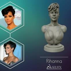 01.jpg Télécharger fichier OBJ La sculpture de Rihanna prête à être imprimée en 3D • Plan imprimable en 3D, selfix