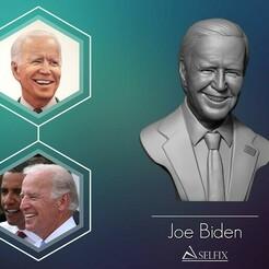 01.jpg Download OBJ file Joe Biden 3D sculpture 3D print model • 3D printable model, selfix