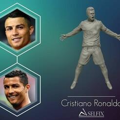 01.jpg Télécharger fichier OBJ Cristiano Ronaldo Célébration sculpture 3D • Objet à imprimer en 3D, selfix