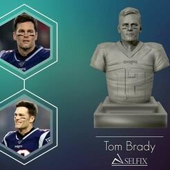 01.jpg Télécharger fichier OBJ Sculpture 3D de Tom Brady • Plan pour imprimante 3D, selfix