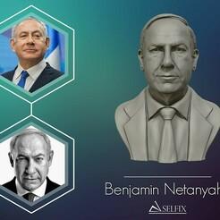 01.jpg Download OBJ file Benjamin Netanyahu 3D Sculpture • 3D printing design, selfix