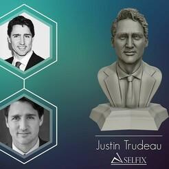 01.jpg Download OBJ file Justin Trudeau 3D portrait Ready to 3D print • Object to 3D print, selfix