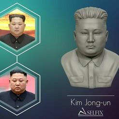 01.jpg Download OBJ file 3D Sculpture of Kim Jong un 3D print model • Template to 3D print, selfix