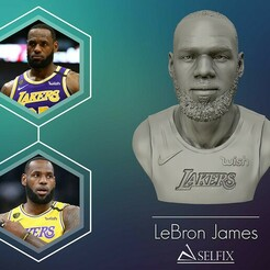 00.jpg Download OBJ file Lebron James in Lakers jersey Ready to 3D print • Design to 3D print, selfix