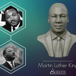 01.jpg Télécharger fichier OBJ La sculpture de la tête de Martin Luther King prête à être imprimée en 3D • Modèle pour imprimante 3D, selfix