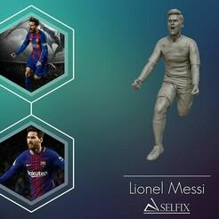 01.jpg Télécharger fichier OBJ Leo Messi sculpture 3d modèle d'impression 3D • Design imprimable en 3D, selfix