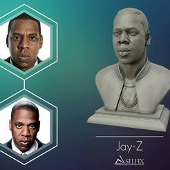 01.jpg Download OBJ file Jay Z Portrait sculpture ready to 3D print • Template to 3D print, selfix