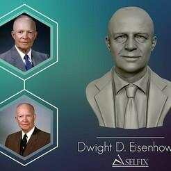 01.jpg Download OBJ file Dwight D Eisenhower Portrait Sculpture 3D print model • 3D printer model, selfix
