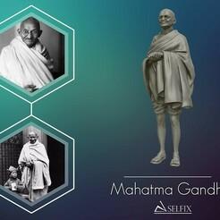 01.jpg Download OBJ file Mahatma Gandhi 3D printable model  • 3D printable template, selfix