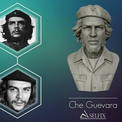 01.jpg Download OBJ file Che Guevara 3D Portrait Sculpture 3D print model • 3D print object, selfix
