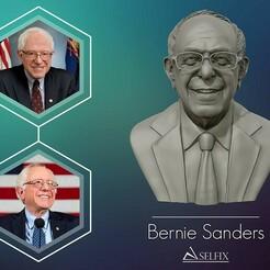 01.jpg Download OBJ file Bernie Sanders 3D sculpture Ready to 3D print 3D print model • Model to 3D print, selfix