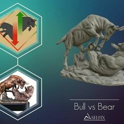 01.jpg Download OBJ file Bull vs Bear sculpture Ready to Print 3D print model • 3D print object, selfix