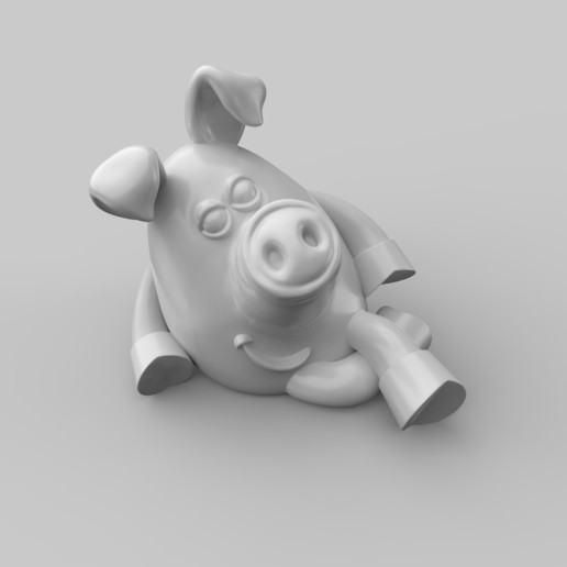 Download 3D printing files pig, bormuh