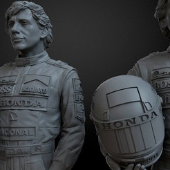 Download 3D printer designs Ayrton Senna 3d, bormuh
