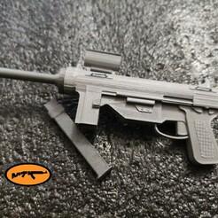 1.jpg Télécharger fichier STL Pistolet mitrailleur M3 (Cal. .45 aka Grease Gun) • Modèle imprimable en 3D, MtkStuka