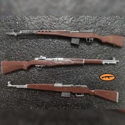 3.jpg Télécharger fichier STL Lot de fusils semi-automatiques de la Seconde Guerre mondiale (Svt 40-Gewehr 43-M1 Garand) • Design pour imprimante 3D, MtkStuka